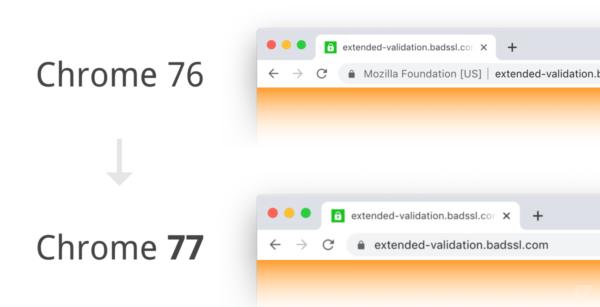 EV-SSL in Chrome 76 und 77
